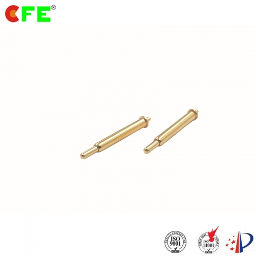 Through hole mount spring loaded pogo pins