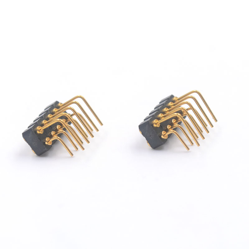 Right Angle Spring : Pin female right angle spring contact connector