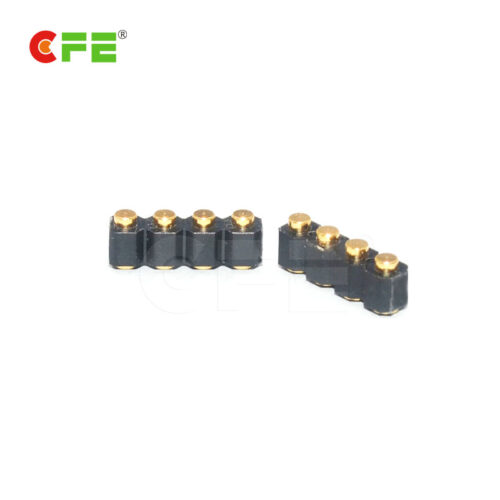 2.54 mm pitch 4 pin female connector for pogo contacts
