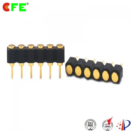 2.54 mm pitch 6 pin female pogo test pins connector