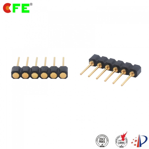 2.54mm pitch 6 pin female through hole connector for pogo pin