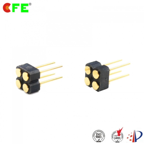 2.54mm pitch 4 pin female connector for spring loaded pin