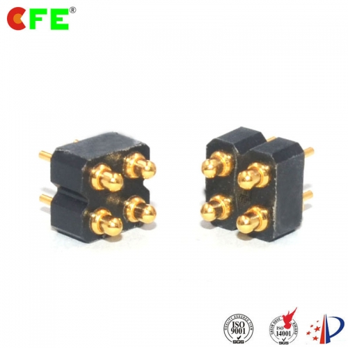 DIP spring loaded electrical contact connector