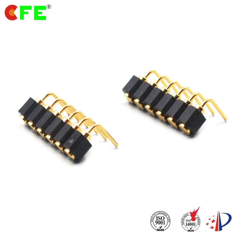 Right Angle Spring : Pin female right angle spring connector cfe