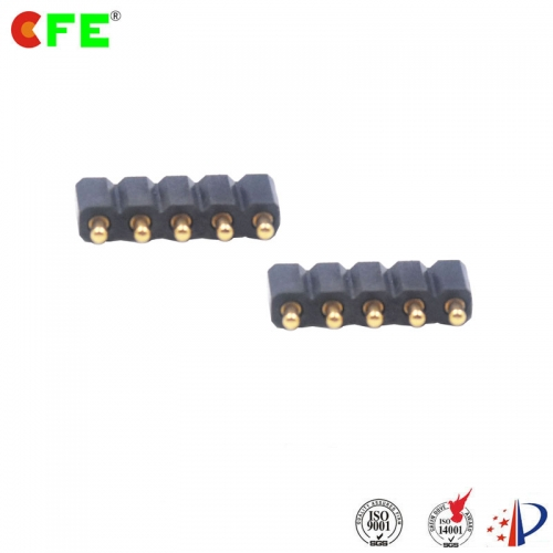 SMT pogo pin spring loaded connector 2.54 mm pitch