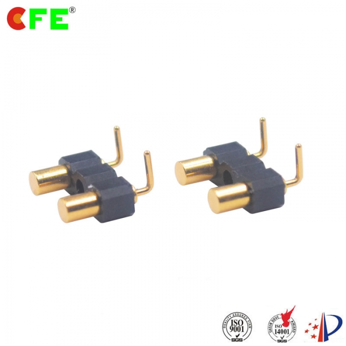 2.54mm pitch right angle spring loaded probe pin connector