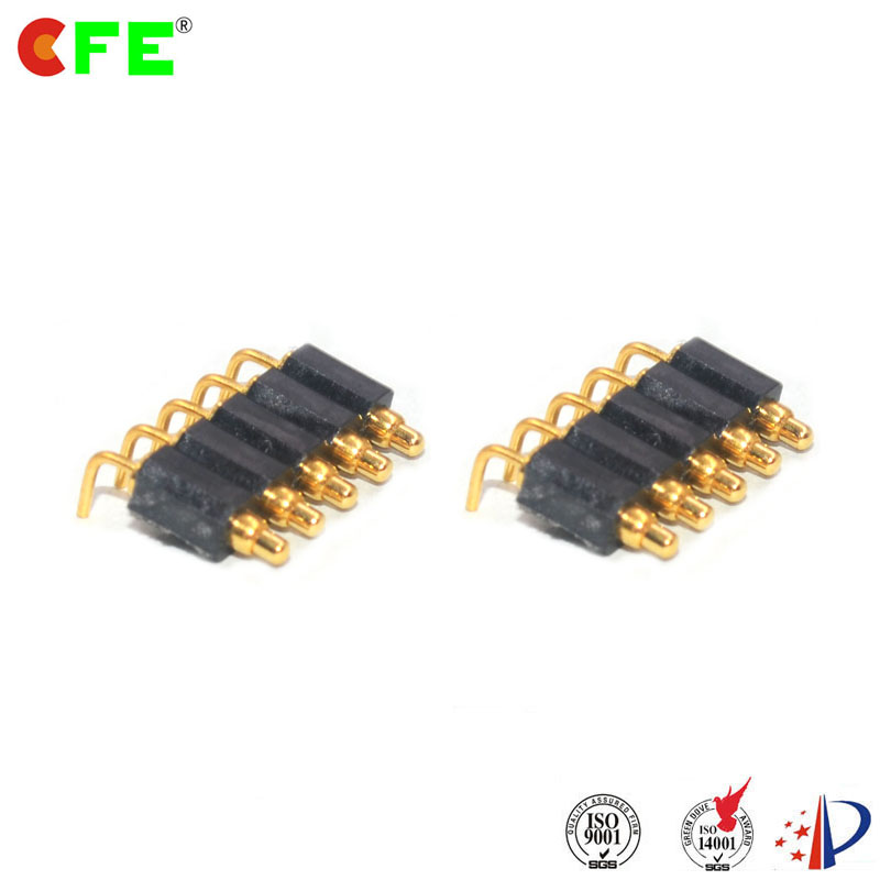 Sping loaded pogo pin right angle pcb connector