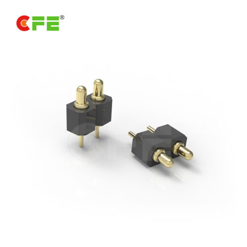Though hole spring loaded probe connector