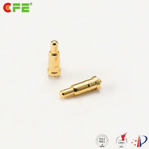 Spring loaded pin electrical contact DIP type