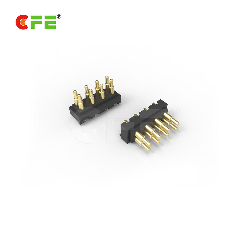 Custom pogo pin spring 8 pin pcb connector