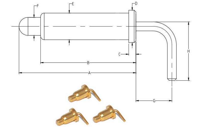 right angle pogo pin