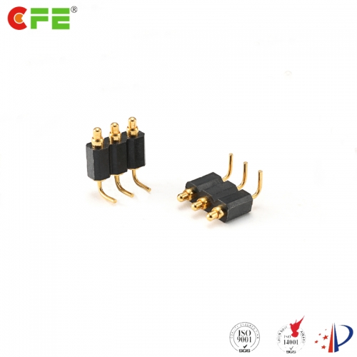 2.54 mm pich right angle pogo pin connector supplier