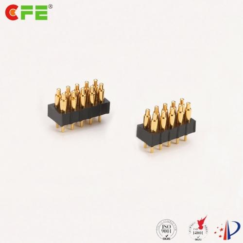 2.0mm DIP double row 10 pin spring pogo pin connector