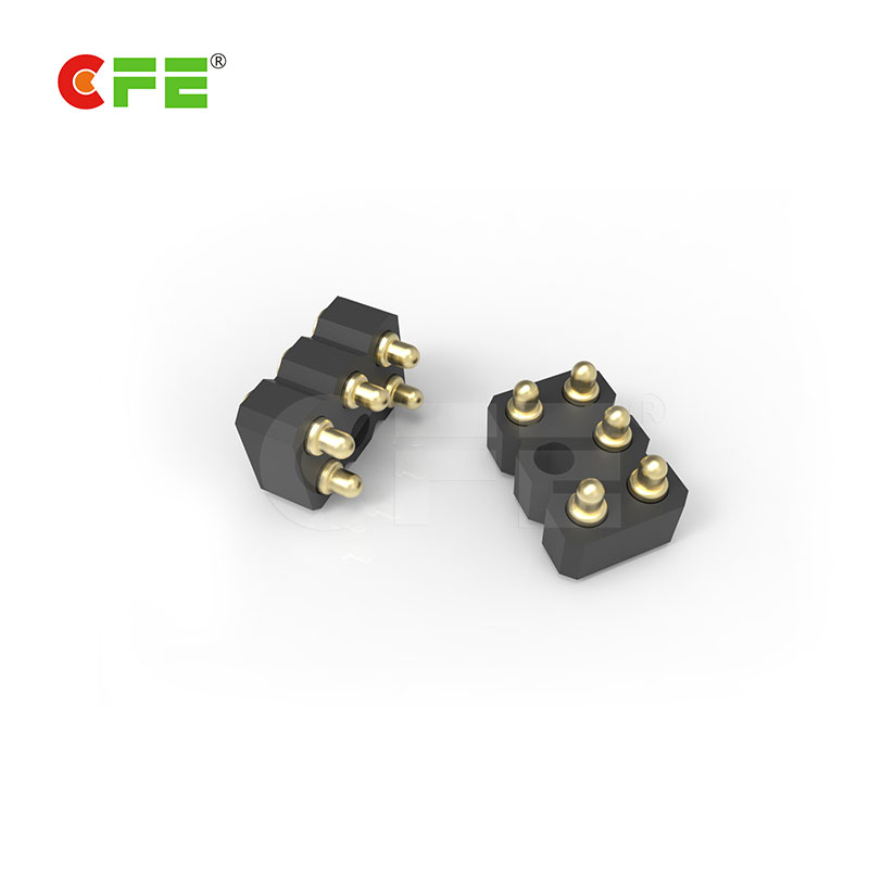Custom 5 pin spring loaded contact connector