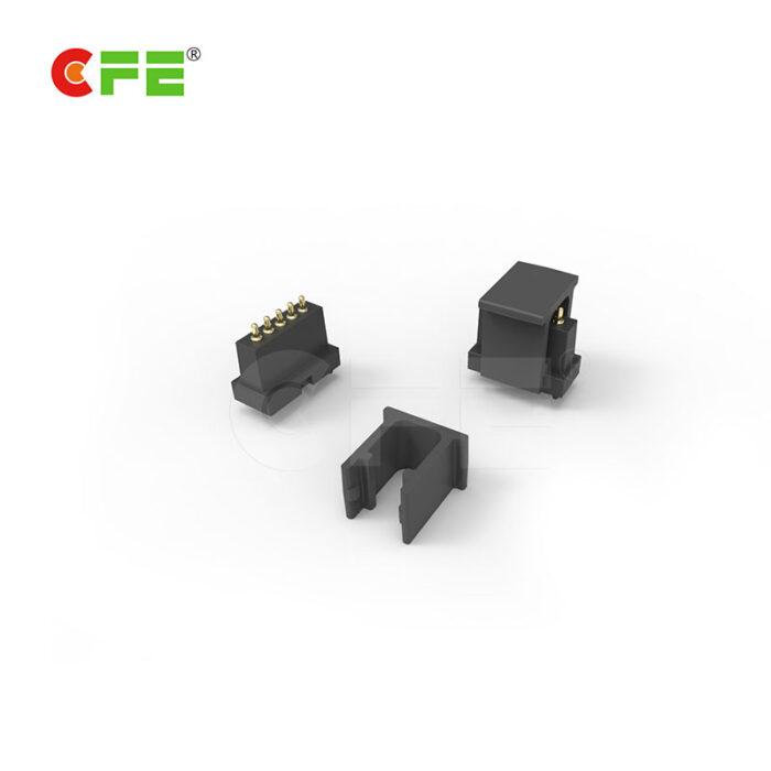 Custom 5 pin through hole type pogo pin connector
