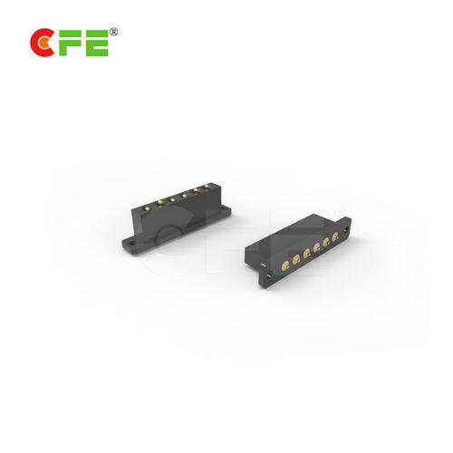 Custom 6 pin pogo pin spring loaded connector