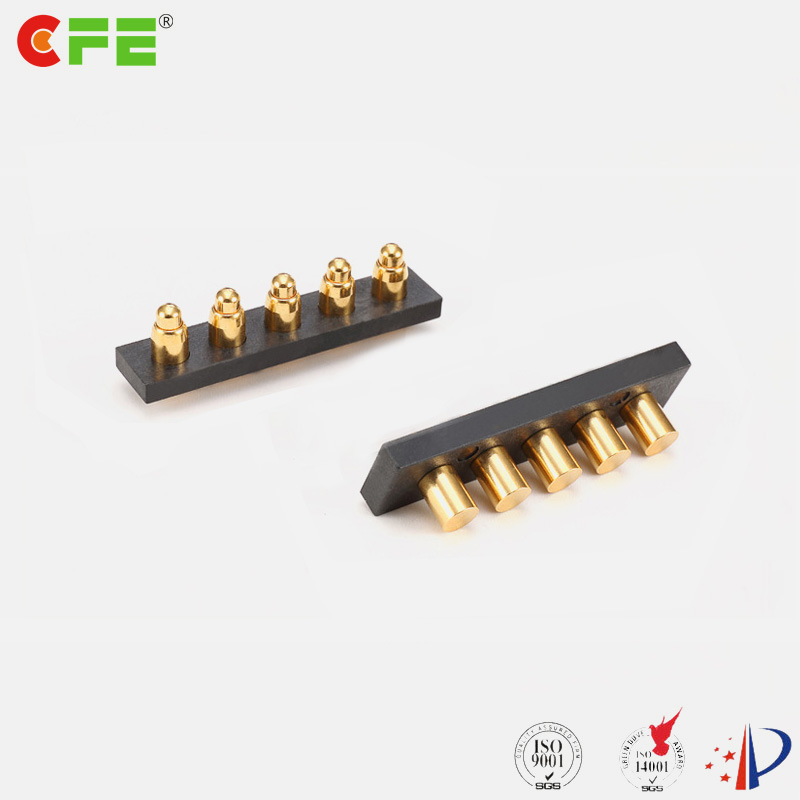 Custom 5 pin pogo pin and female pin connector
