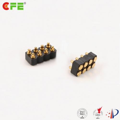 2.54mm pitch SMD 8 pin pogo pin spring connector