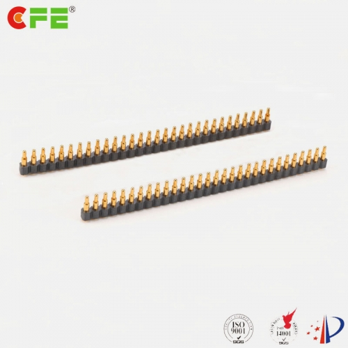 2.54mm 30 pin single row pogo pin connector