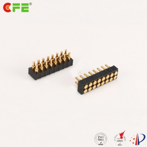2.0mm pitch 16 pin spring loaded contact connector