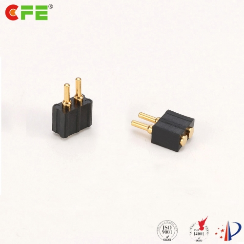 2.54mm 2 pin pogo pin battery connector supply