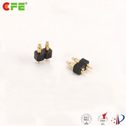 2.54mm pitch DIP 2 pin pogo connector supply