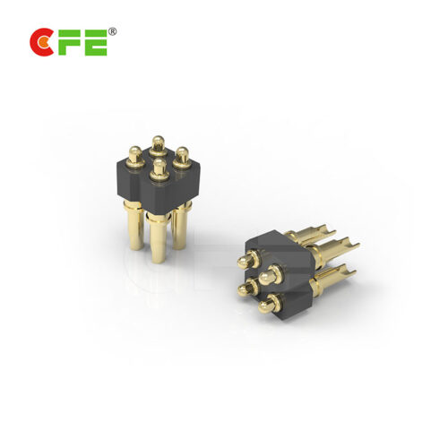 2.54mmpitch 4 pin 3a solder cup type spring loaded pogo pin connector manufacturer in China
