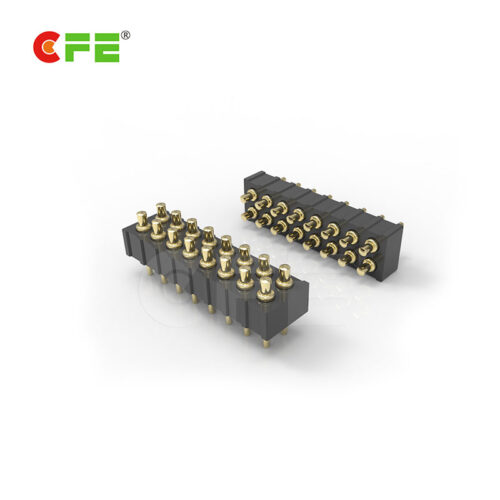 2.0mm pitch 16 pin double row SLC pogo pin connector
