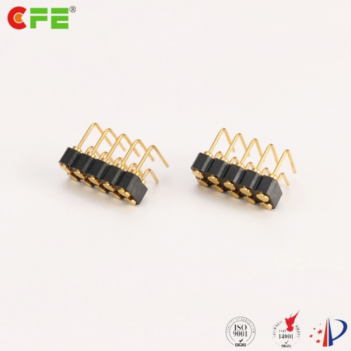 2.54mm 10 pin right angle female spring loaded pins