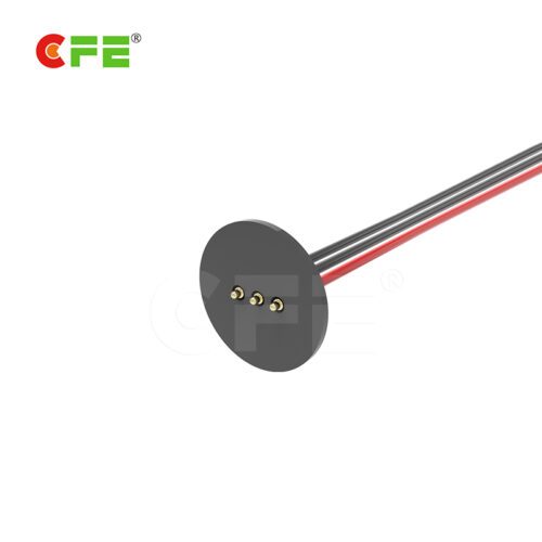 3 Pin round shape magnetic cable connector