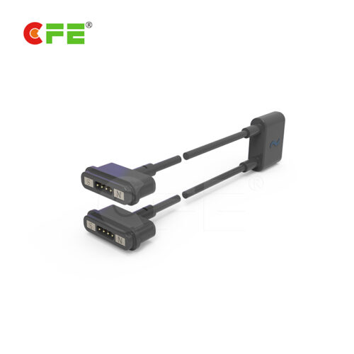 4 Pin magnetic cable connector with double head