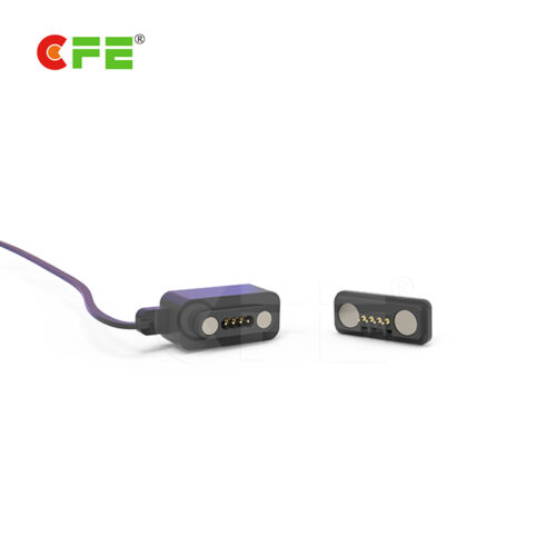 4 Pin square male and female magnetic cable connector