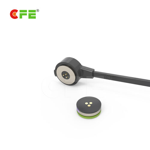 Magnetic cable adapter connector round head