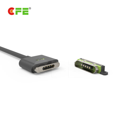 Magnetic charging cable for smartphone with USB