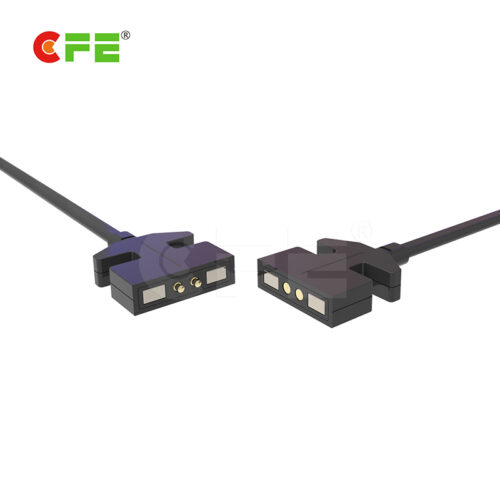 Magnetic pogo 2 pin electronic charging connector