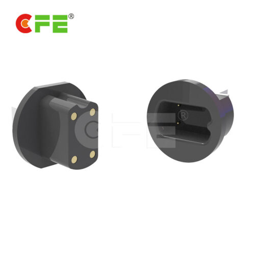 Magnetic usb 4 pin pogo charger connector for safe deposit box