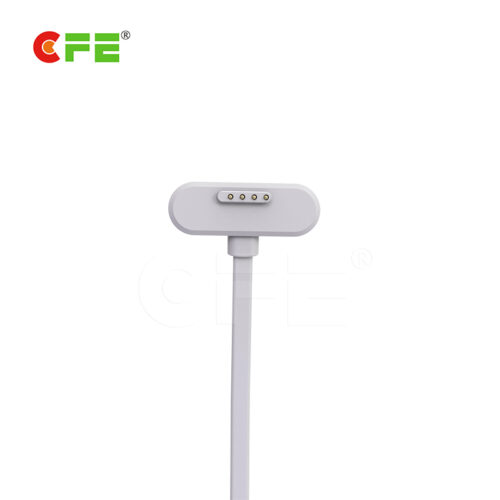 Magnetic usb 4 pin pogo pin white cable connector for children bracelet