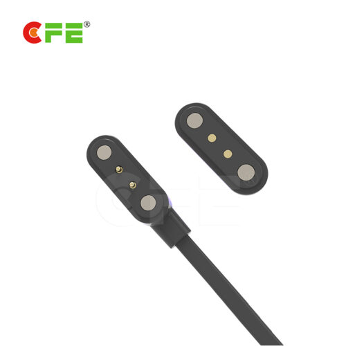 Magnetic wire connector with 2 pin usb magnetic connector
