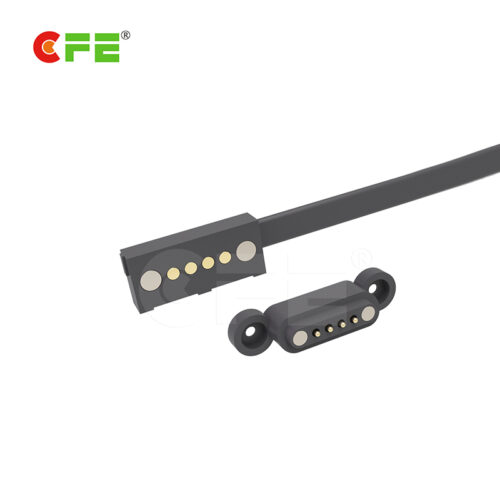 Male and female 4 pin custom charging magnetic connector for portable source
