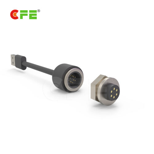 Waterproof 4 pin magnetic connector automotive